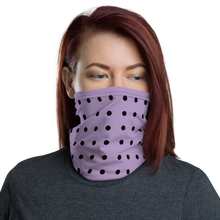 Load image into Gallery viewer, Purple Dot Neck Gaiter/ Mask