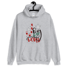Load image into Gallery viewer, Joy to the World Christmas Unisex Hoodie
