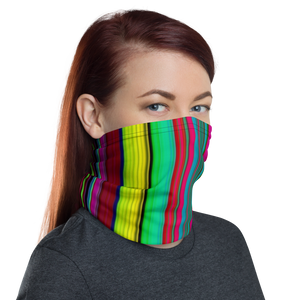 Multi-colored Stripe Neck Gaiter/ Mask
