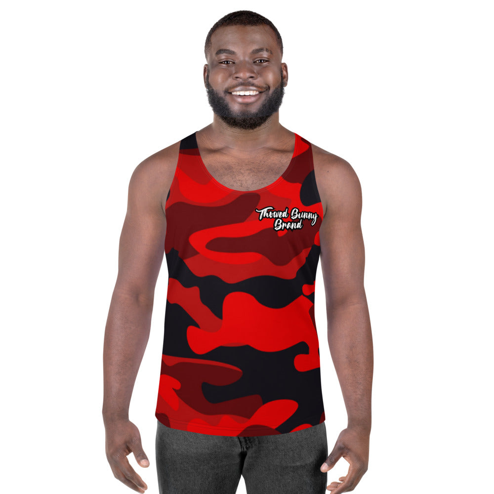 Thowed Bunny Brand (Camo Red) Unisex Tank Top