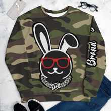 Load image into Gallery viewer, Thowed Bunny Brand Camo Crew Unisex Sweatshirt