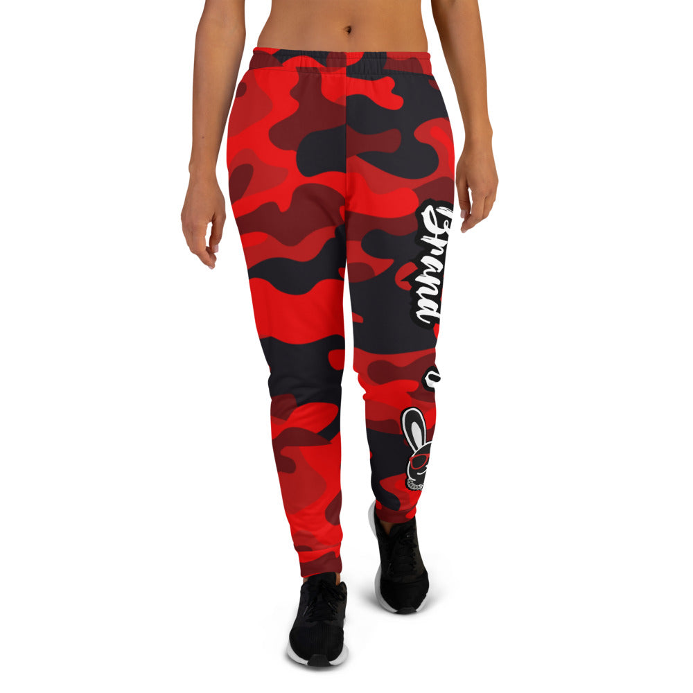 Thowed Bunny Brand (Camo Red) Women's Joggers