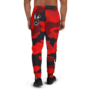 Thowed Bunny Brand Pocket Logo (Camo Red) Men's Joggers