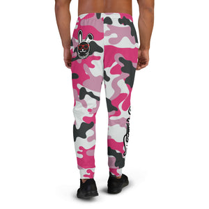 Thowed Bunny Brand Pocket Logo (Camo Pink) Men's Joggers