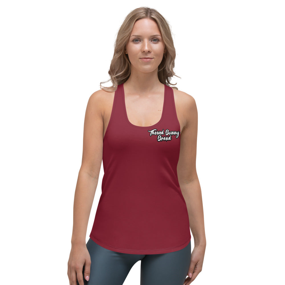 Thowed Bunny Brand (Red 2) Women's Racerback Tank