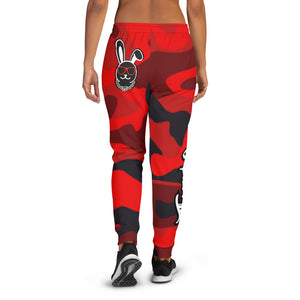 Thowed Bunny Brand Pocket Logo (Camo Red) Women's Joggers