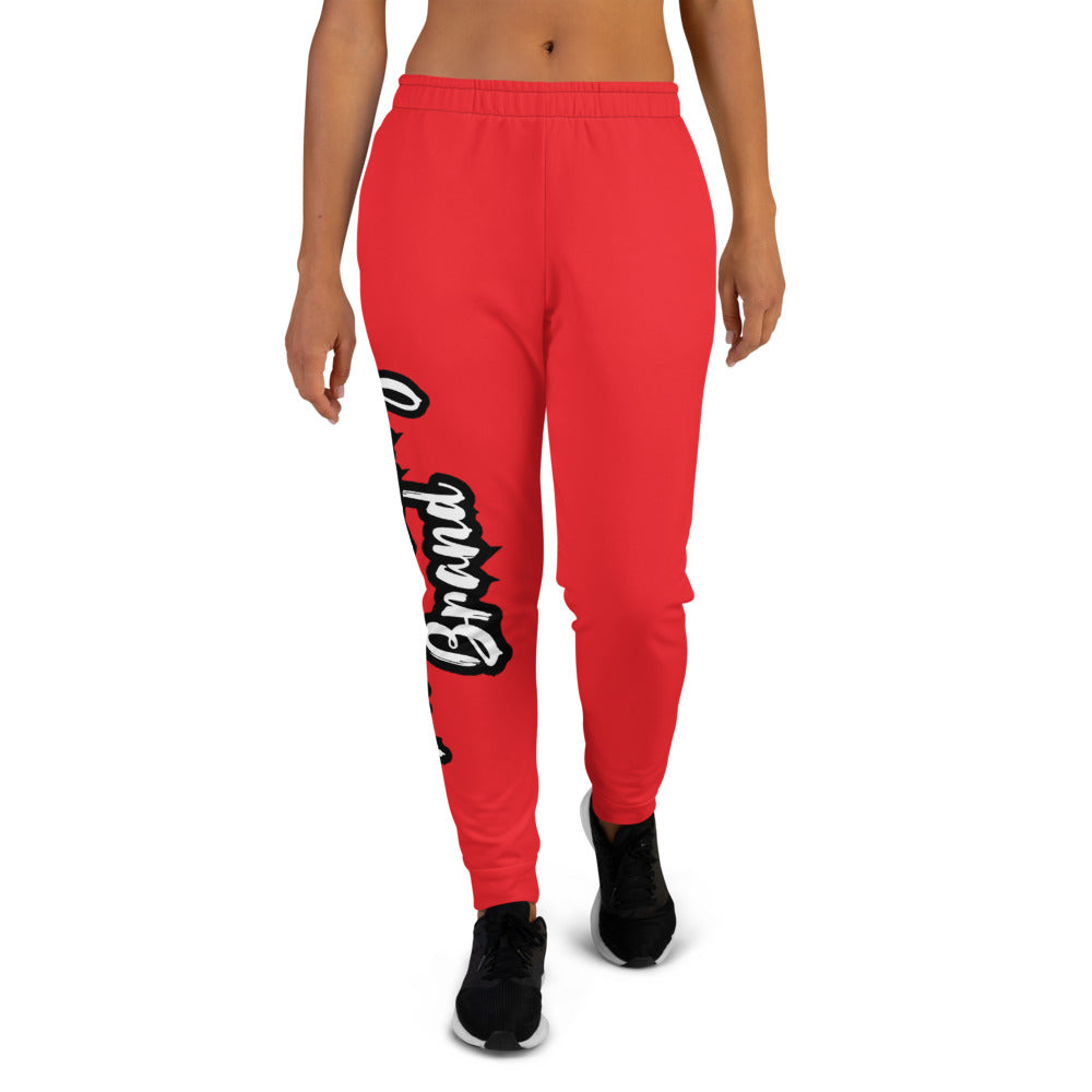 Thowed Bunny Brand Pocket Logo (Red) Women's Joggers