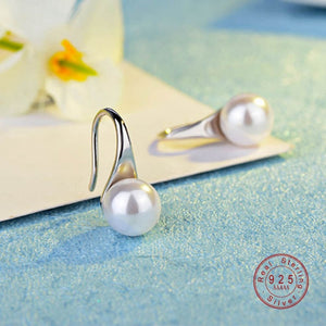 Exquisite Simple Big Clear Pearl Earrings Simple Round White Pearl Earrings Jewelry Classic Earrings For Women Elegant Gifts