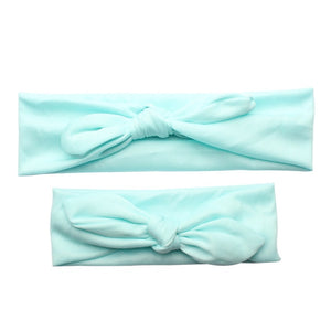 Cute Mother Baby Hair Bands Kids Headband Bow Parent-kid Hairbands Rabbit Ear Knot Headwear Turbans Faixa Bebe Hair Accessories