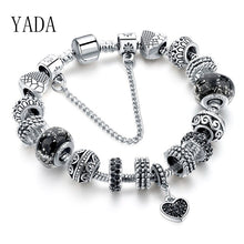 Load image into Gallery viewer, YADA BLACK Heart Bracelets&Bangles For Women Zircon Bracelets Crystal Jewelry Pulseras Mujer BT200217