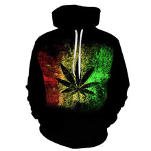 Load image into Gallery viewer, Hot 3D Printed Weed pullover Leaf Hooded Sweatshirts Casual Long-sleeved Hoodie Unisex Outwear Streetwear Hoodies