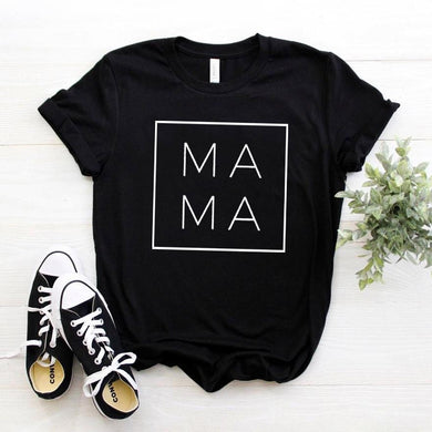 Mama Square Women T-shirt Cotton Casual