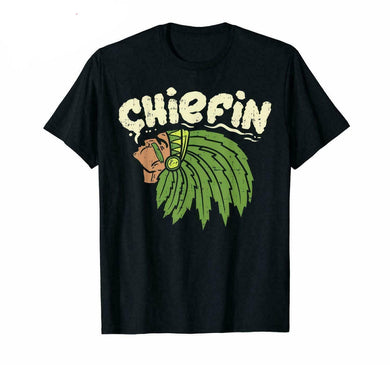 Chiefin Buds Weed Marijuana Cannabis Stoner Get High Funny Black T-Shirt S-6Xl