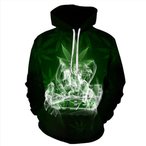 Hot 3D Printed Weed pullover Leaf Hooded Sweatshirts Casual Long-sleeved Hoodie Unisex Outwear Streetwear Hoodies