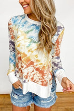 Load image into Gallery viewer, Tie Dye Women Clothes 2020 Autumn Fashion Patchwork Long Sleeve T Shirt Women Tops Tee O-Neck Aesthetic Top Female Graphic tees