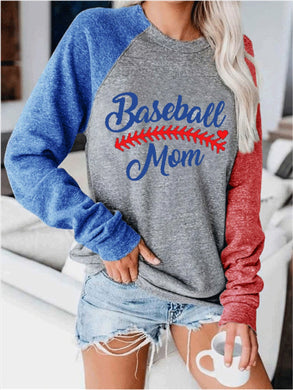 Raglan Sleeve Baseball T shirt Summer Autumn Long Sleeve Tops Tee Women O-neck Loose Tee Print T-shirt 2020 Harajuku Top S-2XL