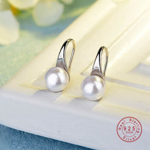 Load image into Gallery viewer, Exquisite Simple Big Clear Pearl Earrings Simple Round White Pearl Earrings Jewelry Classic Earrings For Women Elegant Gifts
