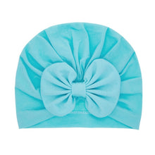 Load image into Gallery viewer, Fashion Flower Baby Girls Turban Hats Cute Kids Knot Bonnet Caps Children Photo Props Headwear Hair Accessories