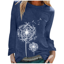 Load image into Gallery viewer, Fashion Women's Casual Print O-neck Long Sleeves T-shirt Tunic Summer Tops Women's t-shirts