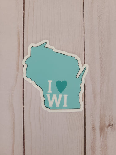 I Love Wisconsin Sticker
