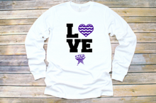 "Load image into Gallery viewer, STAR Youth Long Sleeve Shirt ""Love Swimming"""