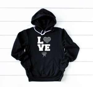 "STAR Adult Hoodie ""Love Swimming"""