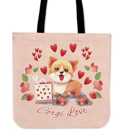 Corgi Love Tote Bag Tote Bag One Gear Stop