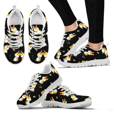 Corgi Lover Women's Sneakers Sneakers One Gear Stop