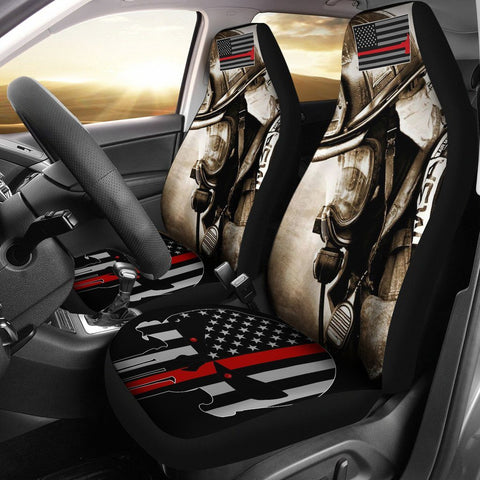 Firefighter Thin Red Line Car Seat Covers (Set of 2) One Gear Stop