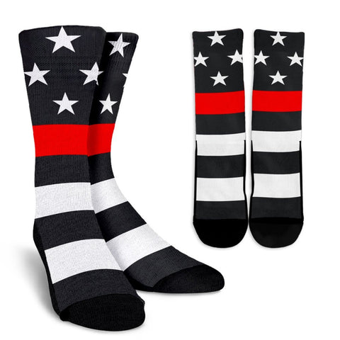 Firefighter Thin Red Line Crew Socks One Gear Stop