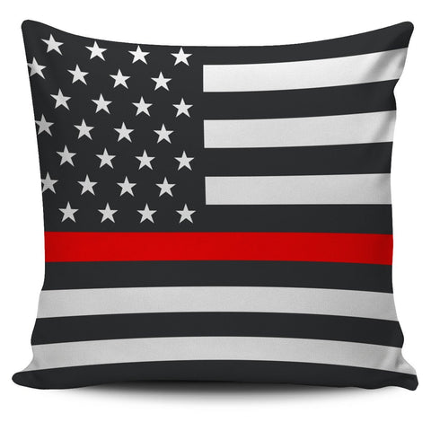 Firefighter Thin Red Line Pillow Cover One Gear Stop