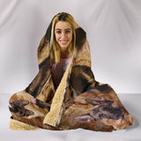 GERMAN SHEPHERD Hooded Blanket One Gear Stop