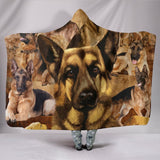 "GERMAN SHEPHERD Hooded Blanket One Gear Stop Hooded Blanket Youth 60""x45"""