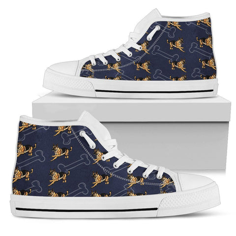 German Shepherd Men's High Top One Gear Stop