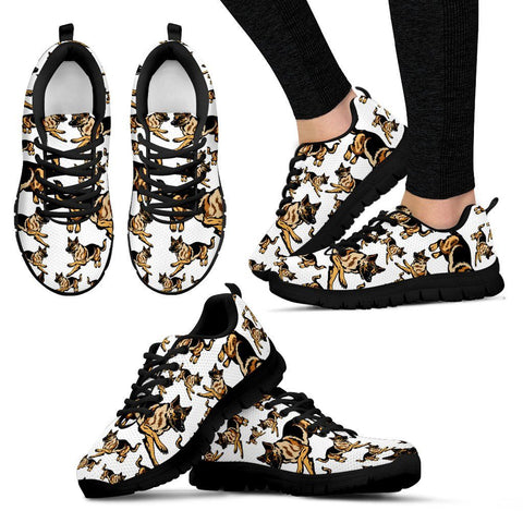German Shepherd Sneakers – Black Women's One Gear Stop