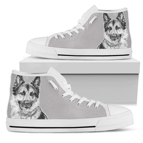 German Shepherd Women's High Top Shoes One Gear Stop