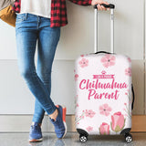 I am a proud Chihuahua Parent Floral Luggage Cover Luggage Covers One Gear Stop