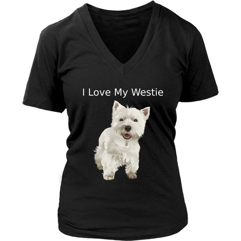 I Love My Westie - LIMITED EDITION T-shirt teelaunch District Womens V-Neck Black S