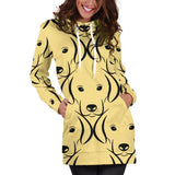 Labrador Face Pattern Hoodie Dress One Gear Stop