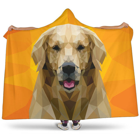 "Labrador Retrievers Modern Art Hooded Blanket One Gear Stop Hooded Blanket Youth 60""x45"""