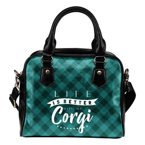 Life Is Better With My Corgi Handbags One Gear Stop