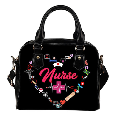 NURSE HANDBAG pink letters One Gear Stop