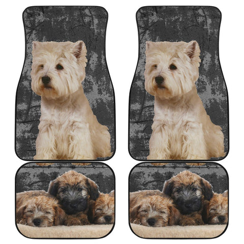 Westie Car Floor Mat - Front and Back Car Floor Mat One Gear Stop