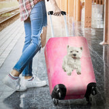 Westie Luggage Cover - Pink Luggage Covers One Gear Stop