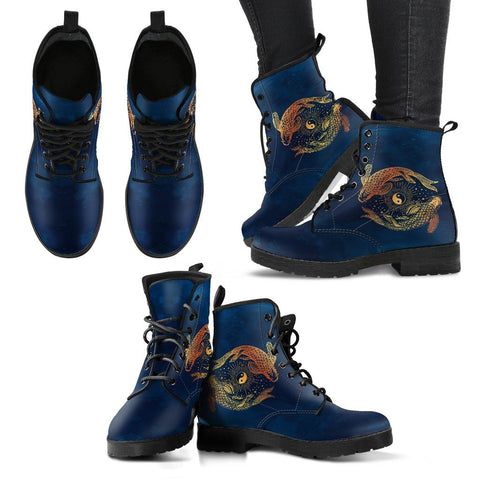 Yin Yang Koi Fish Handcrafted Boots One Gear Stop