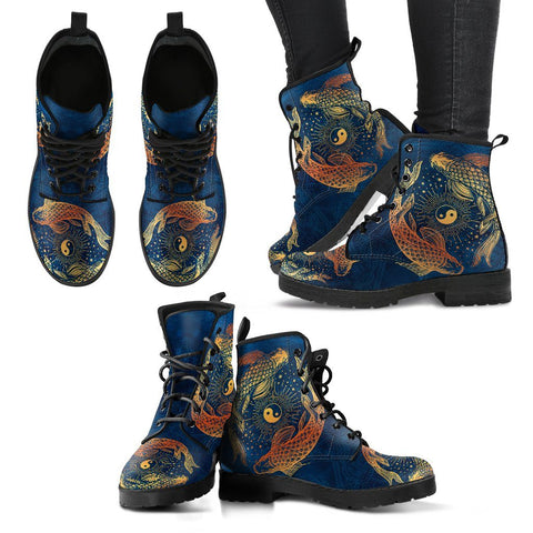 YIN YANG KOI FISH HANDCRAFTED BOOTS V2 One Gear Stop
