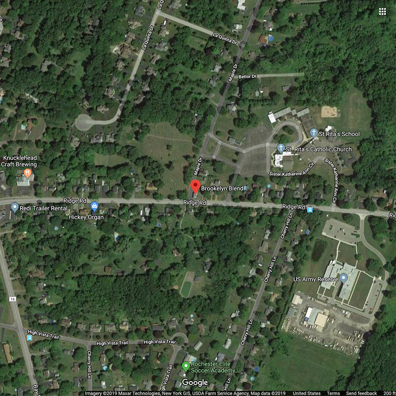 Brookelyn Blend - Map, 474 Ridge Road Webster, NY // Midheaven Candles