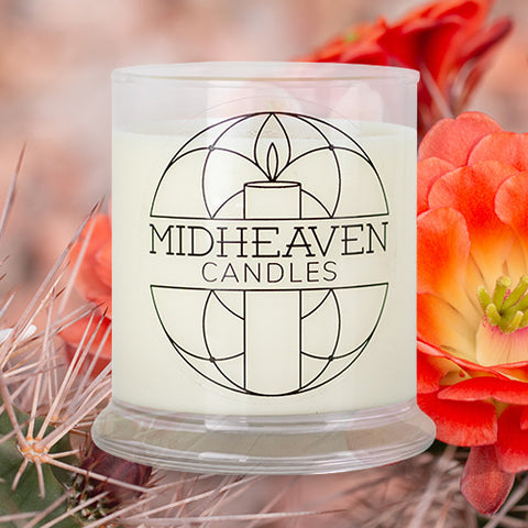 Midheaven Cactus Flower and Jade Soy Candle // Featured Cactus Photo