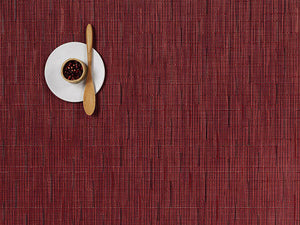 Chilewich Placemats Bamboo Cranberry Rectangle  (100105-009)