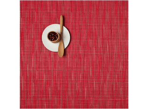 Chilewich Placemats Bamboo Square Poppy (100107)